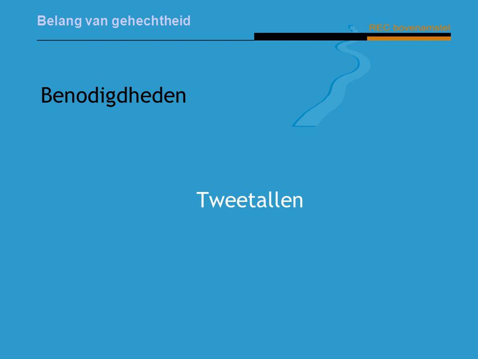 Belang van gehechtheid Benodigdheden Tweetallen