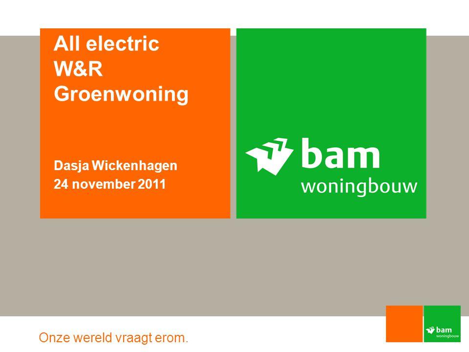 Onze wereld vraagt erom. All electric W&R Groenwoning Dasja Wickenhagen 24 november 2011