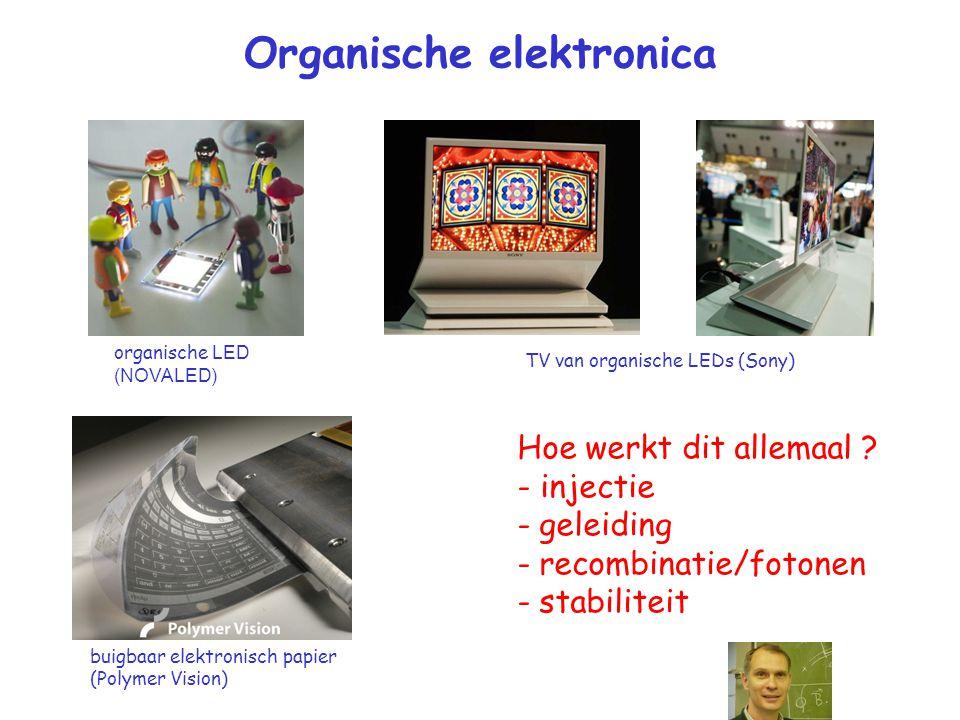 Organische elektronica organische LED (NOVALED) Hoe werkt dit allemaal .