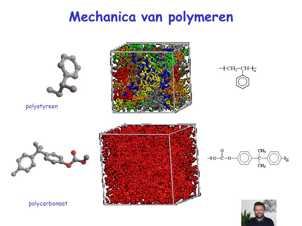 Mechanica van polymeren polystyreen polycarbonaat