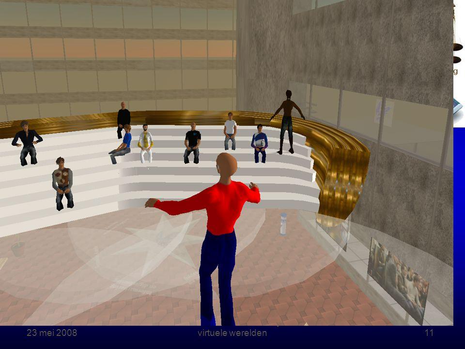23 mei 2008 Rechten online – Onderwijs in virtuele werelden11