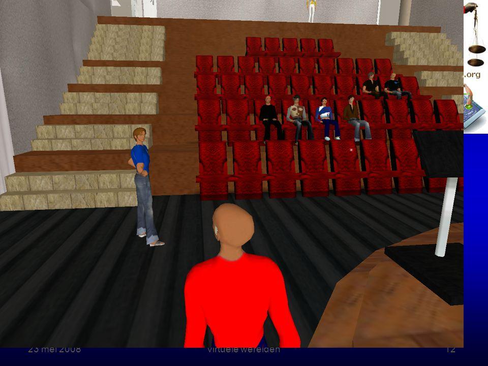 23 mei 2008 Rechten online – Onderwijs in virtuele werelden12