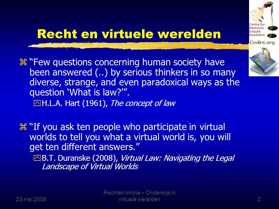 23 mei 2008 Rechten online – Onderwijs in virtuele werelden3 April 1, 2008, US congressional hearings