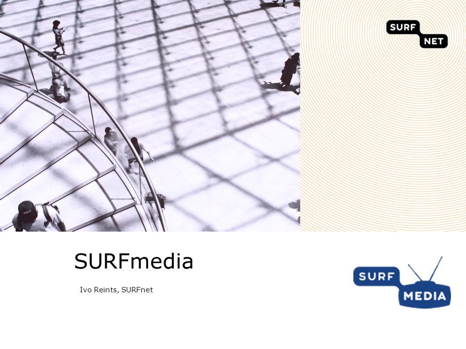 11 Uploaden in SURFmedia Uploadgegevens en metadata invoeren Eerst inloggen voordat je kan uploaden www.surfmedia.nl