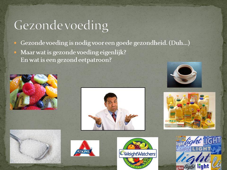 Gezonde voeding is nodig voor een goede gezondheid. (Duh…) Maar wat is gezonde voeding eigenlijk? En wat is een gezond eetpatroon?