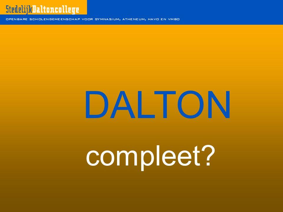 DALTON compleet?