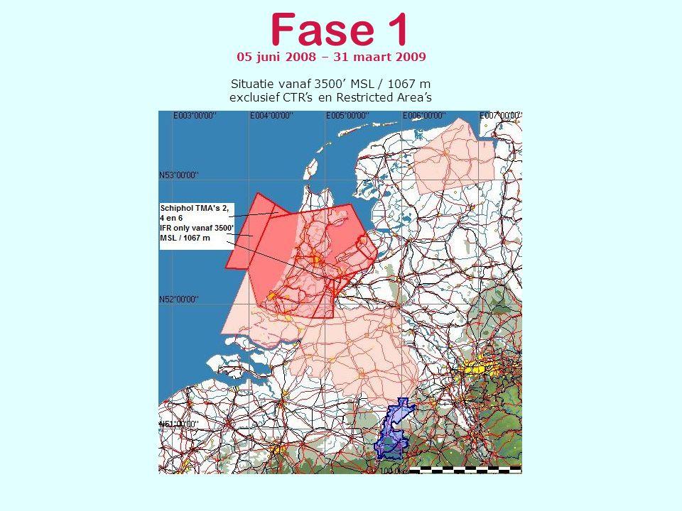 Fase 2 & 3 Fase 2: Implementatie datum 31 maart 2009 De tijdens fase 2 geïmplementeerde gebieden zijn een aanvulling op fase 1.