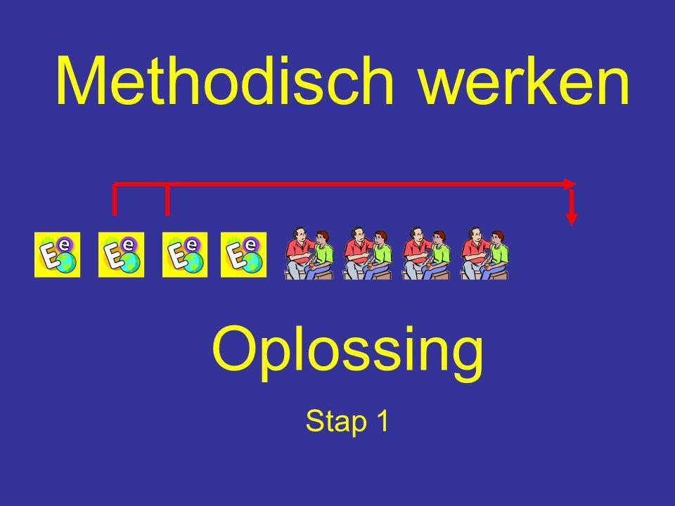 Methodisch werken Oplossing Stap 1