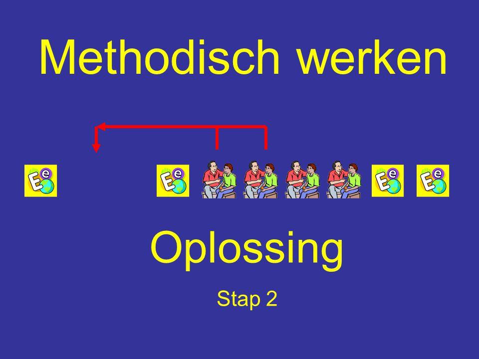Methodisch werken Oplossing Stap 2