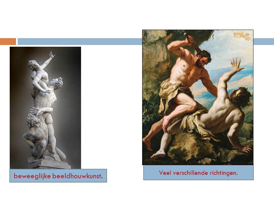 beweeglijke beeldhouwkunst. Veel verschillende richtingen.