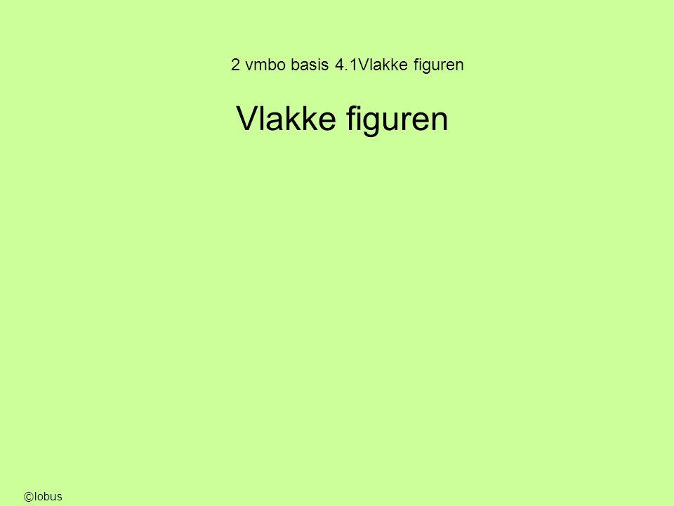 2 vmbo basis 4.1Vlakke figuren Vlakke figuren © lobus