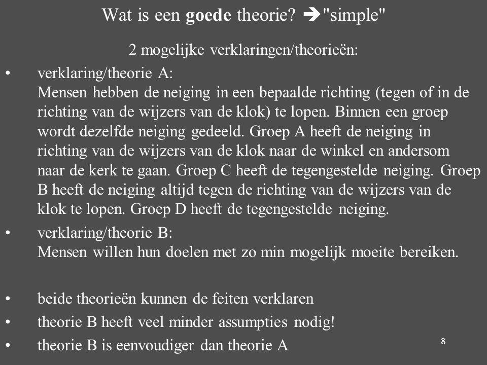 8 Wat is een goede theorie? 