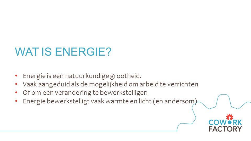WAAR KRIJG JE (GEEN) ENERGIE VAN?