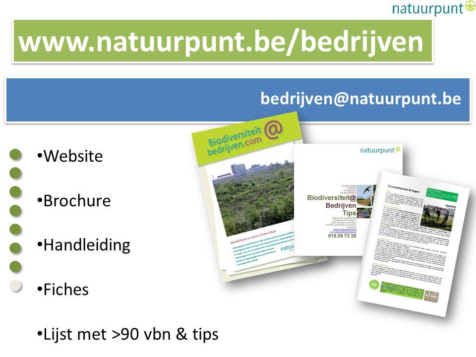 BiodiversiteitNetwerkbedrijven@natuurpunt.be Uw logo hier?