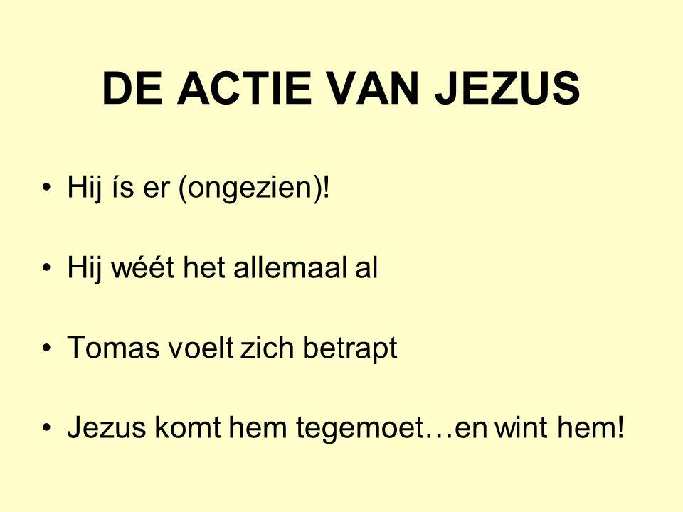 DE ACTIE VAN JEZUS Hij ís er (ongezien).