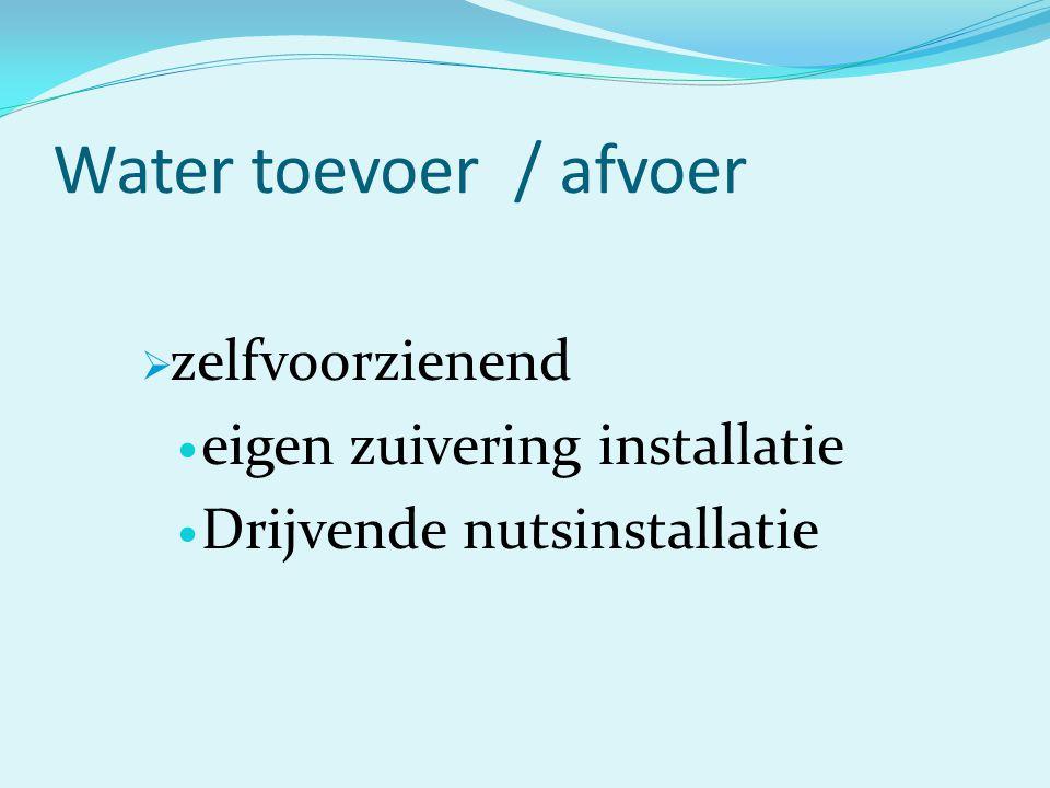 Water toevoer / afvoer  zelfvoorzienend eigen zuivering installatie Drijvende nutsinstallatie