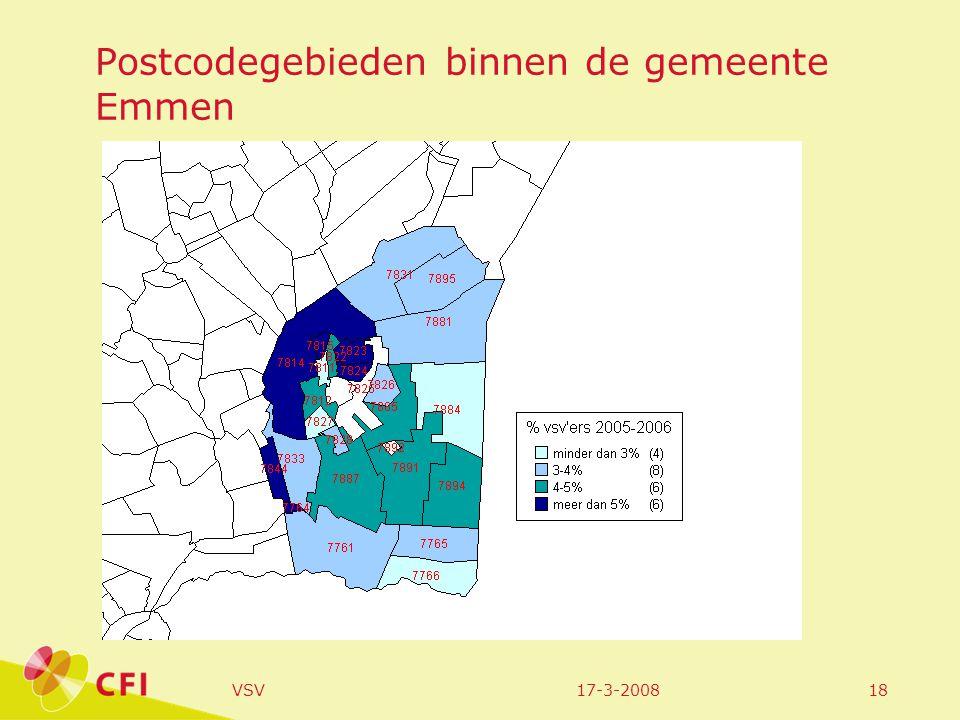 17-3-2008VSV18 Postcodegebieden binnen de gemeente Emmen