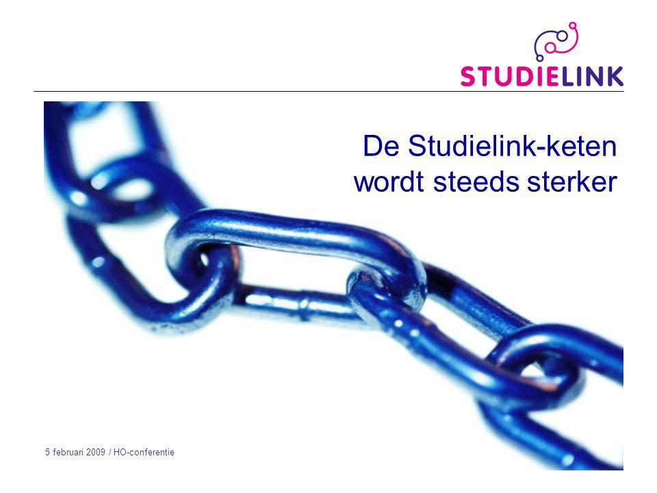 De Studielink-keten wordt steeds sterker 5 februari 2009 / HO-conferentie