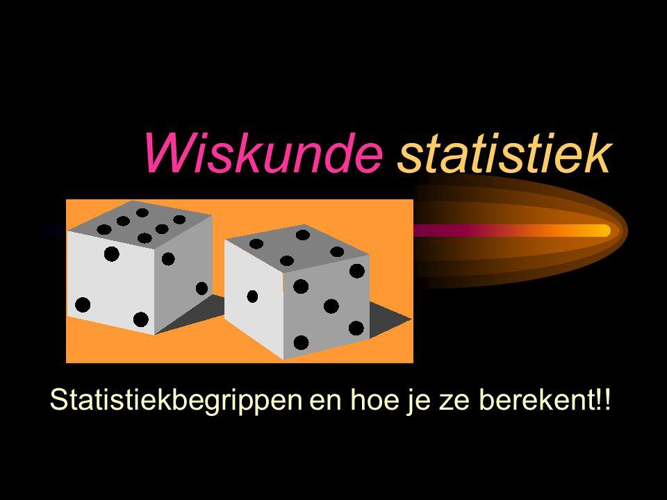 Wiskunde statistiek Statistiekbegrippen en hoe je ze berekent!!