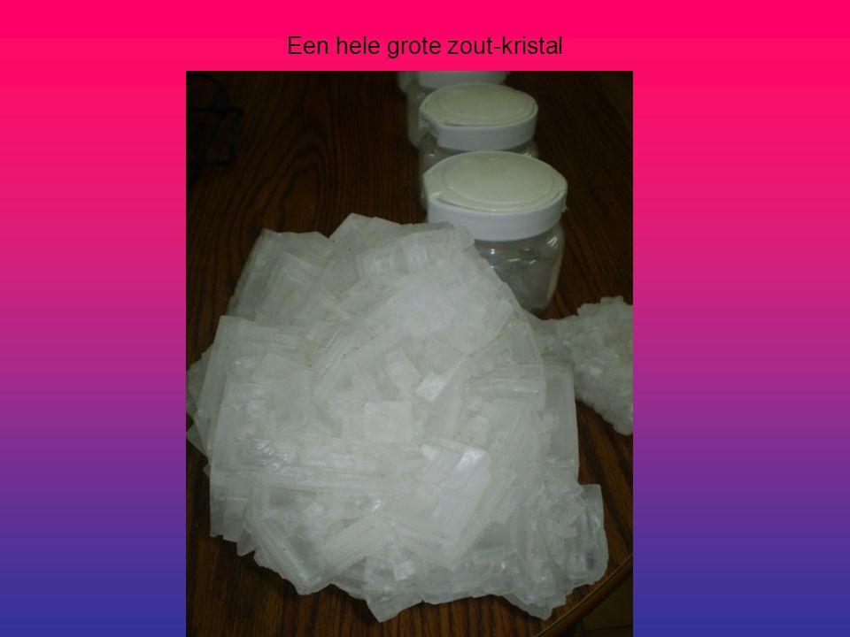 Een hele grote zout-kristal