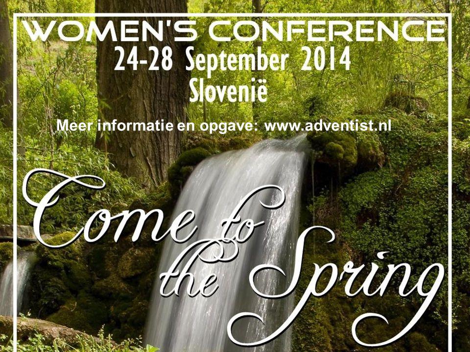 Meer informatie en opgave: www.adventist.nl