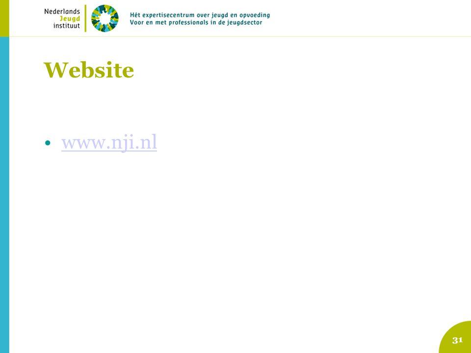 31 Website www.nji.nl
