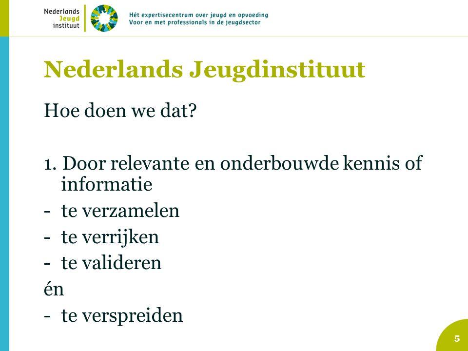5 Nederlands Jeugdinstituut Hoe doen we dat. 1.