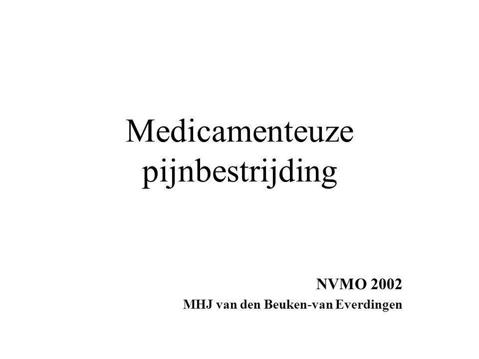 Medicamenteuze pijnbestrijding NVMO 2002 MHJ van den Beuken-van Everdingen