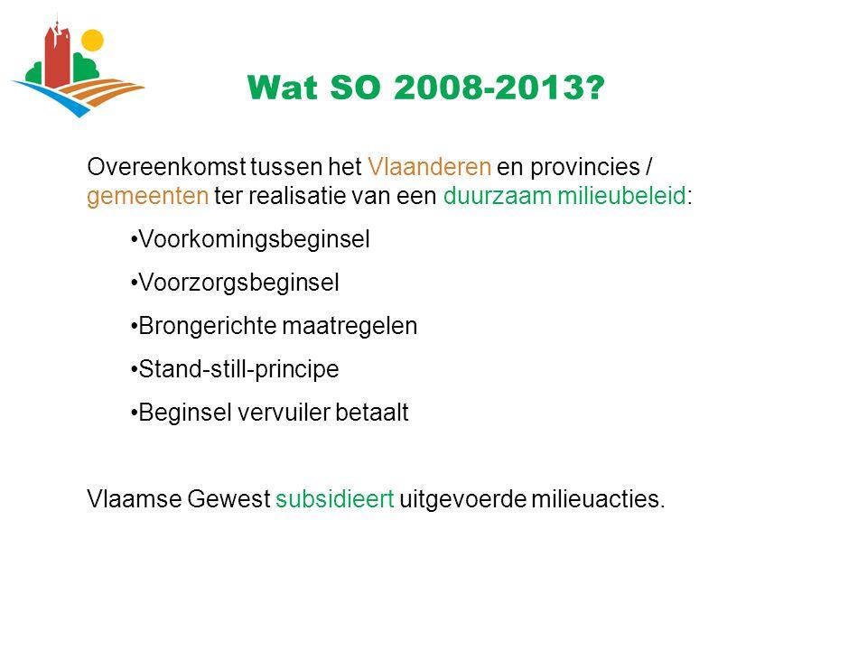Overeenkomst tussen het Vlaanderen en provincies / gemeenten ter realisatie van een duurzaam milieubeleid: Voorkomingsbeginsel Voorzorgsbeginsel Brong