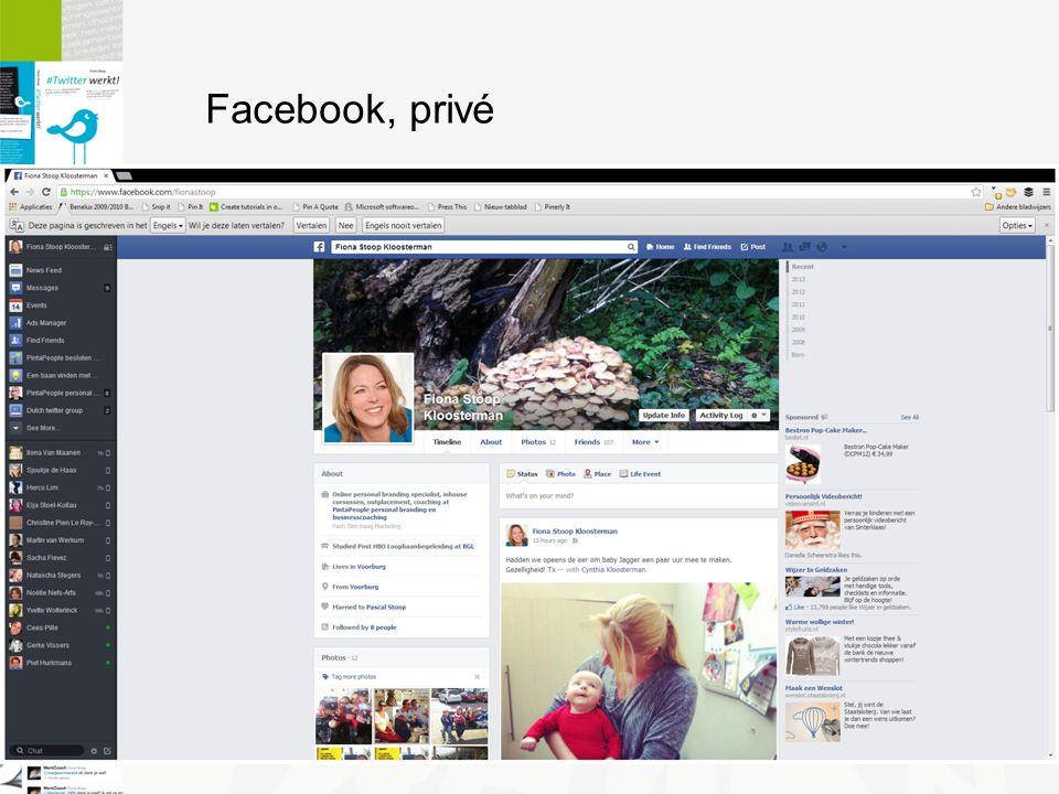 Facebook, privé