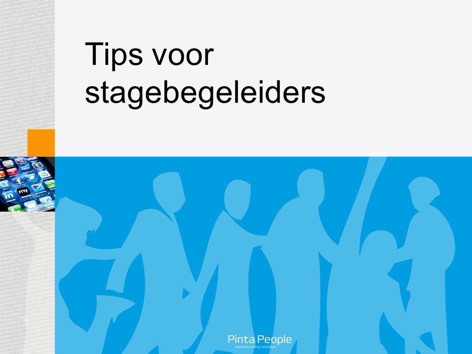 Tips voor stagebegeleiders