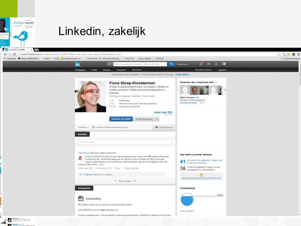 Linkedin, zakelijk
