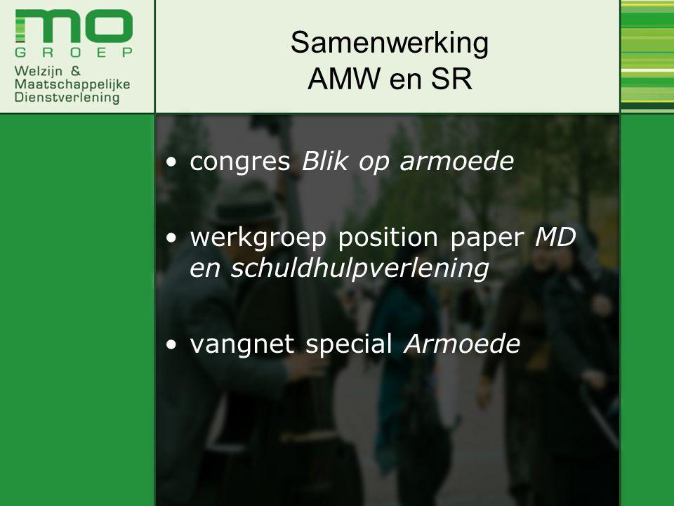 congres Blik op armoede werkgroep position paper MD en schuldhulpverlening vangnet special Armoede Samenwerking AMW en SR