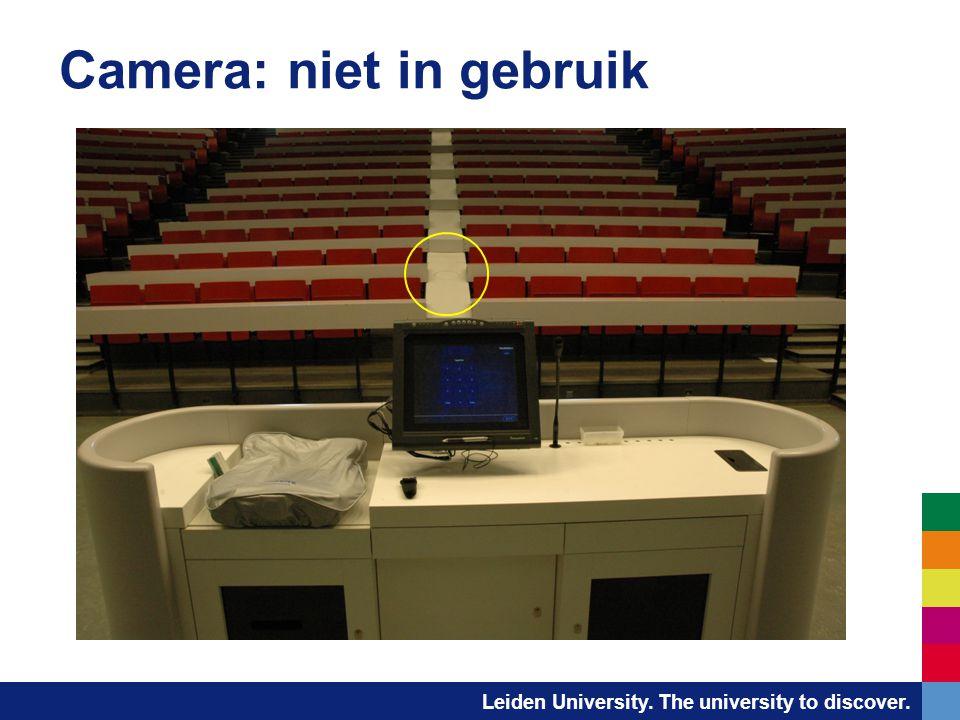 Leiden University. The university to discover. Camera: niet in gebruik