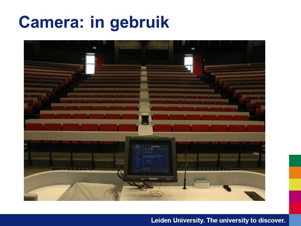 Leiden University. The university to discover. Camera: in gebruik