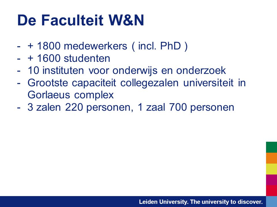 Leiden University. The university to discover. Mediasite interface