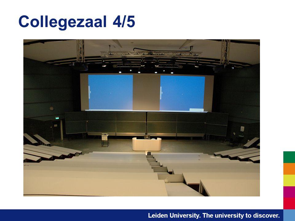 Leiden University. The university to discover. Collegezaal 4/5