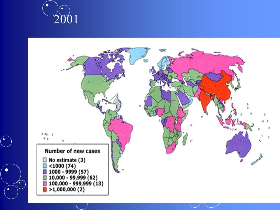 16 Criteria voor positiviteit > 10 mm Allochtonen uit landen met hoge prevalentie en minder dan 5 jaar verblijf in BelgiëAllochtonen uit landen met ho
