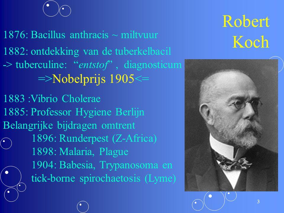 2 Wie is hij? °11/12/1843,  27/05/1910 Huisarts 1867 – 1885 Hoogleraar a/d Universiteit Berlijn vanaf 1885