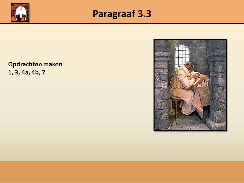 Paragraaf 3.3 Karel de Grote en het feodale stelsel  Bestuurt gebied  Zweert trouw  Dienen met raad en daad Leenheer Leenman  Leent land uit  Beschermt leenman