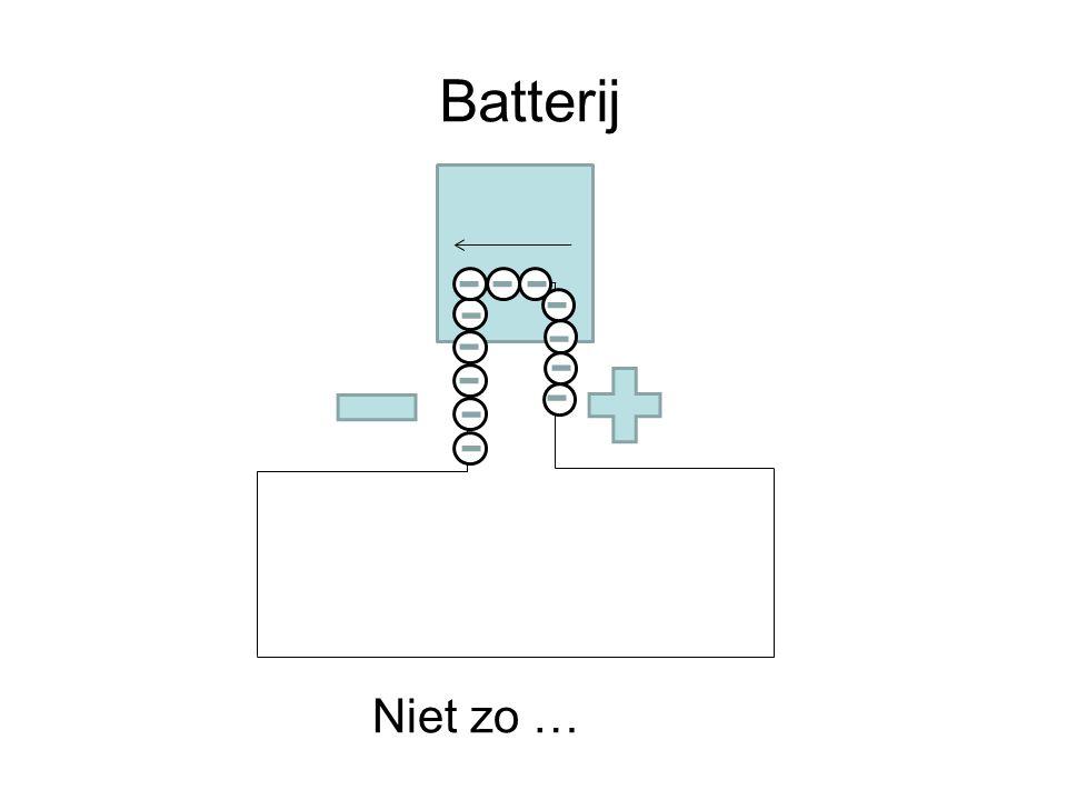 Batterij Niet zo …