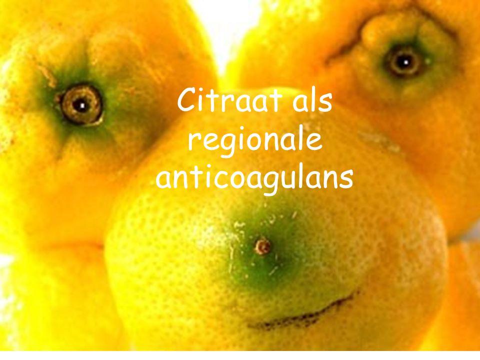 Citraat als regionale anticoagulans
