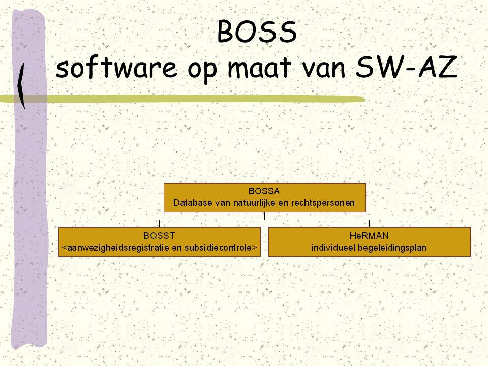 BOSS software op maat van SW-AZ