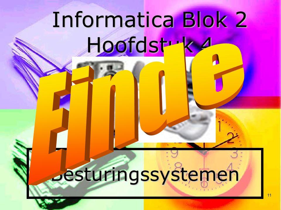 11 Besturingssystemen Informatica Blok 2 Hoofdstuk 4