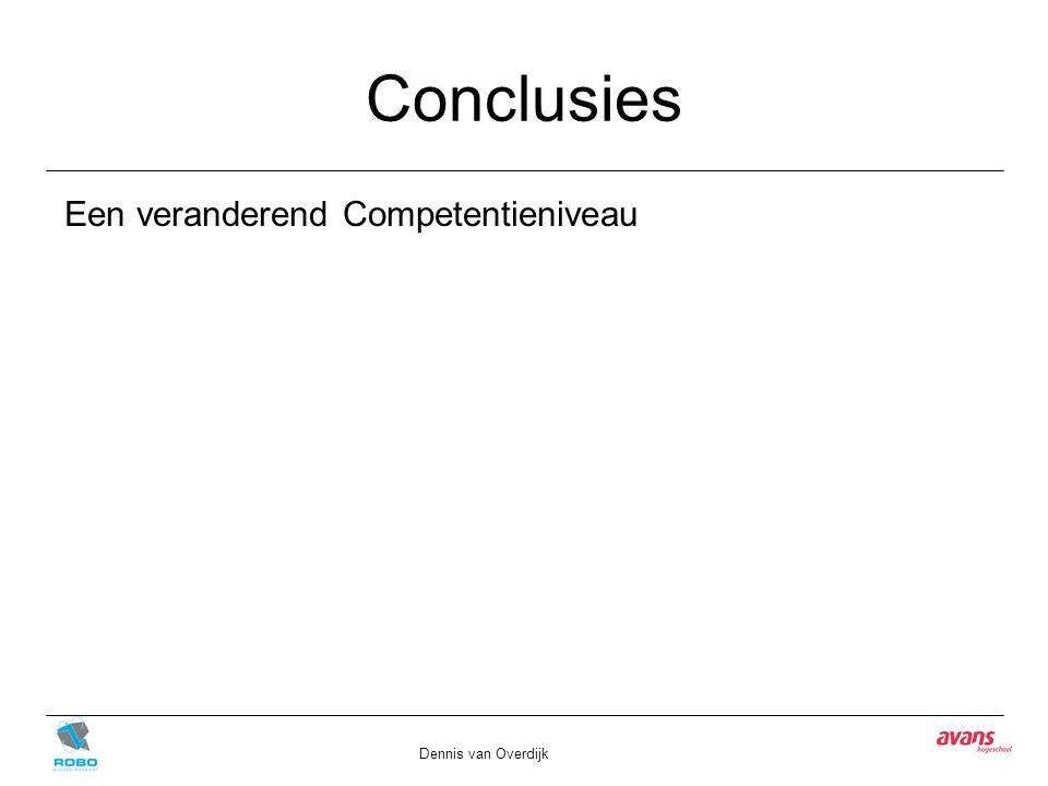 Conclusies Dennis van Overdijk Een veranderend Competentieniveau