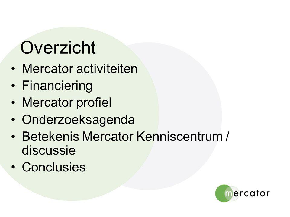 Mercator activiteiten Documentatie en informatie Onderzoek en publicaties Databases Network of Schools Congressen en seminars Advisering en bemiddeling Q&A op de website