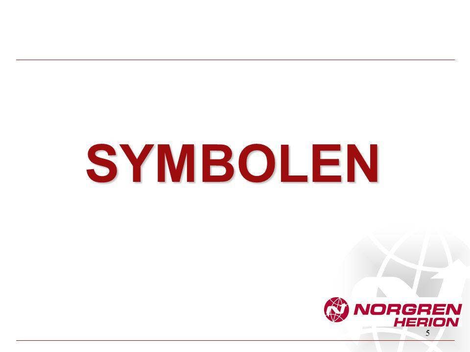 16 Een NIET- terugverende bediening Bedieningsgedeelte van een relais (spoel) Symbolen