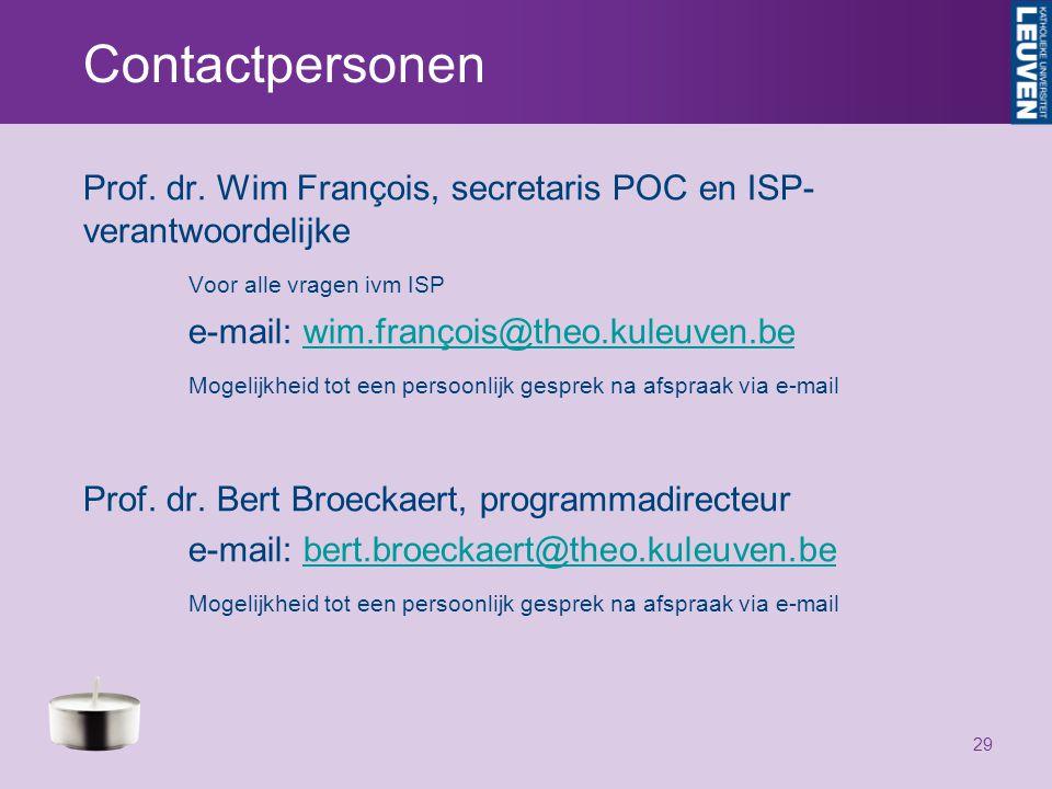 Contactpersonen Prof. dr.