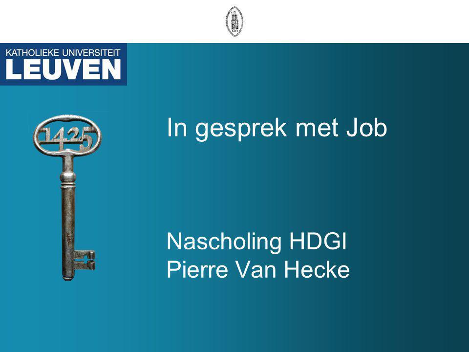 In gesprek met Job Nascholing HDGI Pierre Van Hecke