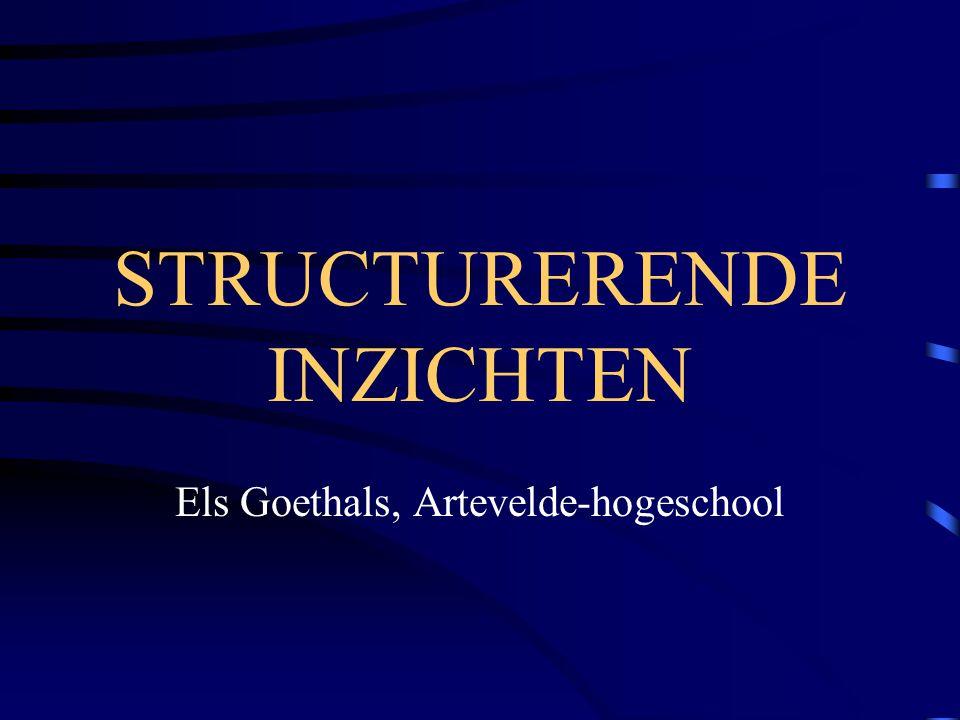 STRUCTURERENDE INZICHTEN Els Goethals, Artevelde-hogeschool